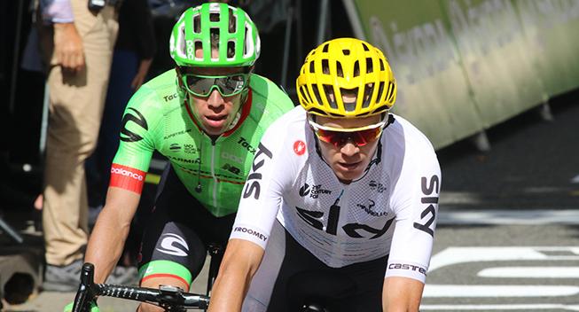 TdF2017 13 etape Chris Froome og Rigoberto Uran finish