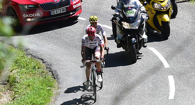 TdF2017 13 etape Contador og Landa udbrud panorama