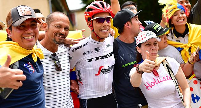 TdF2017 13 etape Jarlinson Pantano med fans