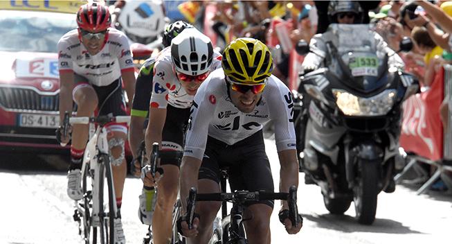 TdF2017 13 etape Landa Barguil Quintana og Contador