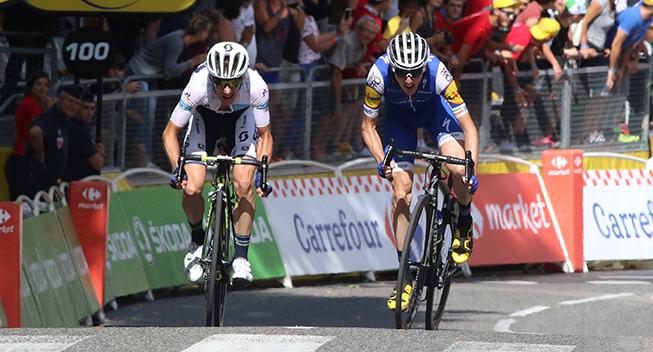 TdF2017 13 etape Simon Yates og Dan Martin spurt