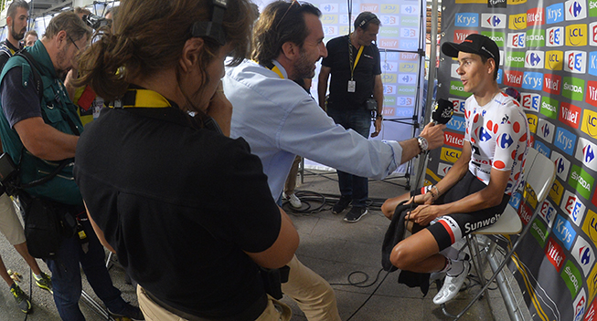 TdF2017 13 etape Warren Barguil post race interview