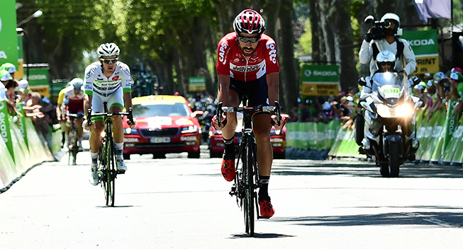 TdF2017 14 etape Thomas De Gendt indlagt spurt