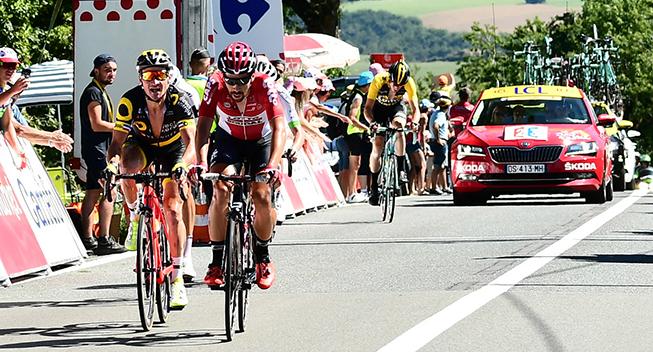 TdF2017 14 etape Thomas De Gendt og Thomas Voeckler bjergspurt