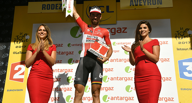 TdF2017 14 etape Thomas De Gendt podiet angrebspris