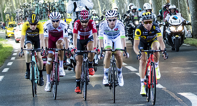 TdF2017 14 etape udbrud Timo Roosen - Reto Hollenstein - Thomas De Gendt - Maxime Bouet og Thomas Voeckler