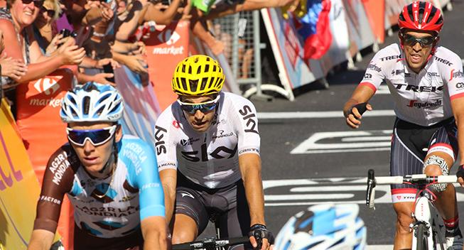 TdF2017 15 etape Bardet - Landa og Contador finish