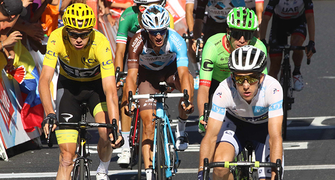 TdF2017 15 etape Chris Froome og Simon Yates finish