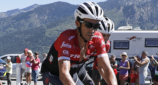 Vuelta 2017 3 etape Alberto Contador i feltet opad