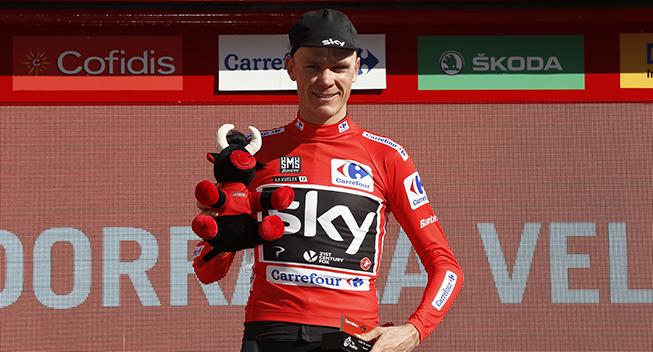 Vuelta 2017 3 etape Chris Froome podiet klassement