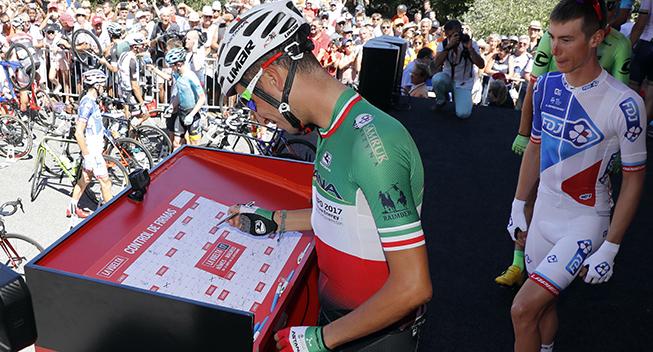 Vuelta 2017 3 etape Fabio Aru indskrivning