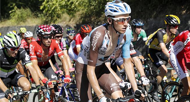 Vuelta 2017 3 etape Romain Bardet opad