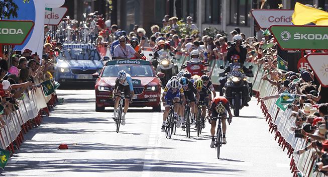 Vuelta 2017 3 etape spurt