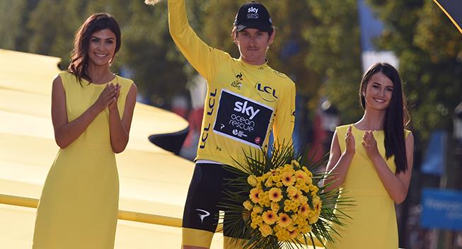 TdF2018 21 etape Geraint Thomas podiet Tour-vinder