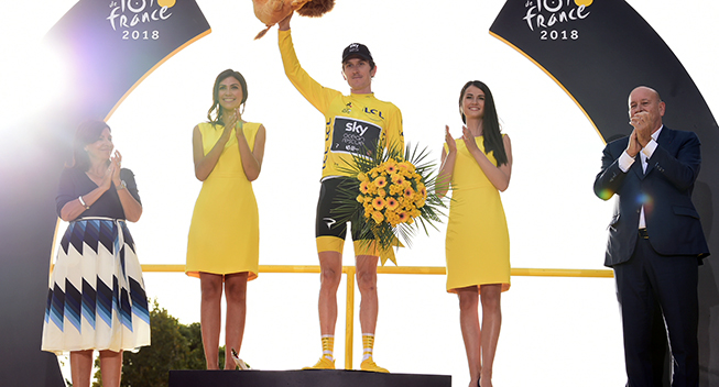 TdF2018 21 etape Geraint Thomas podiet klassement