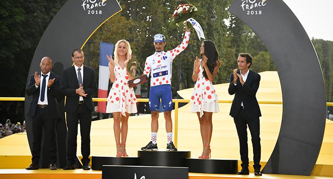 TdF2018 21 etape Julian Alaphilippe podiet bjergkonkurrencen