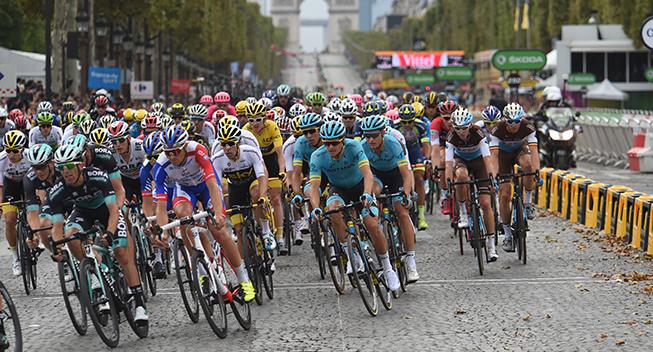 TdF2018 21 etape feltet paa Champs-Elysees