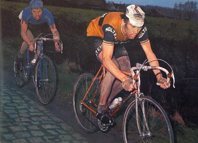 Eddy Merckx og Roger de Vlaeminck i Paris-Roubaix