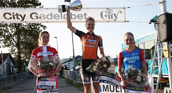 Amalie Dideriksen til start ved Driesdaagse Brugge-De Panne