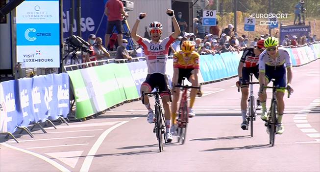 Ulissi tager førertrøje og etapesejr i Luxembourg på dramatisk etape
