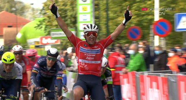 Mads Pedersen vinder spurten i Aalter!
