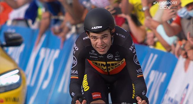 Van Aert så faresignalerne hos Roglic tidligt: Han kørte anderledes på sin cykel