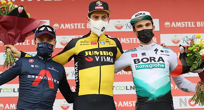Motorcykler ramt af søm i Amstel Gold Race