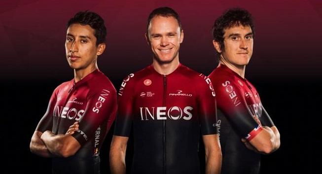 Team INEOS offentliggør sit nye tøj og cykel