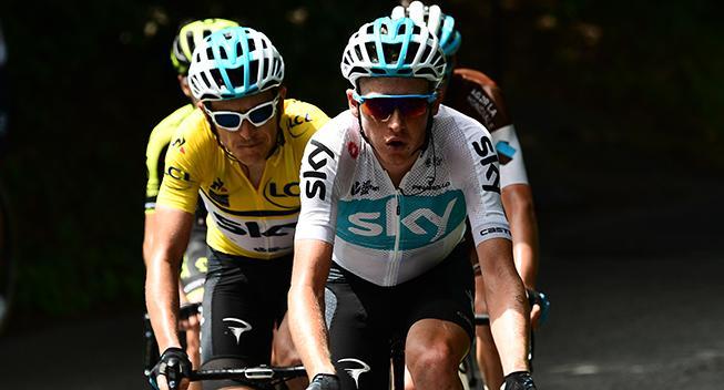Sky-talent i førertrøjen efter spændende Tour of the Alps-indledning