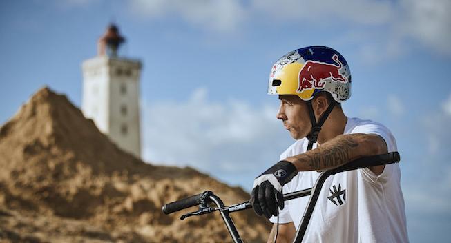Skotsk RedBull BMX'er markedsfører Danmark i vild video
