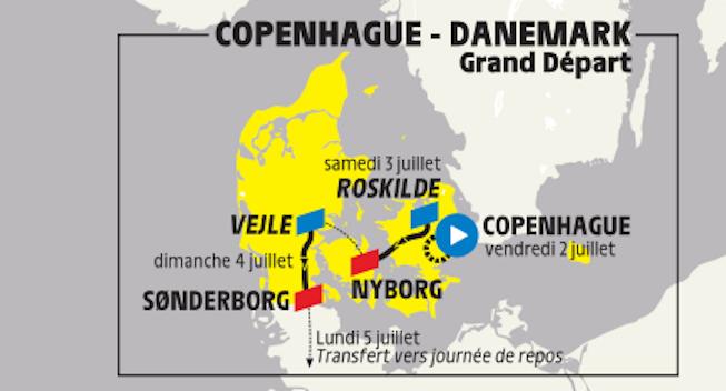 Roskilde Festival har fået indflydelse på Tour-start i Danmark