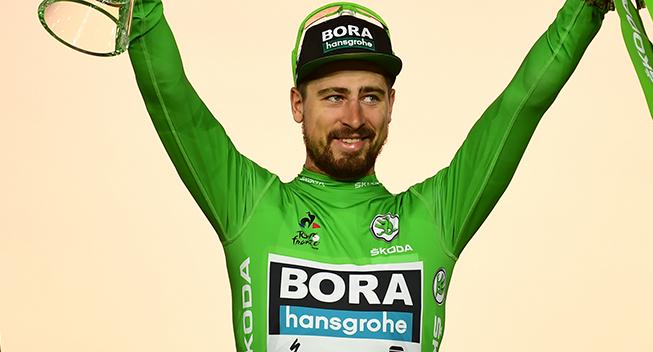 Peter Sagan slår rekord med syv grønne trøjer