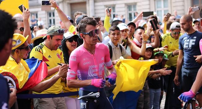 Rigoberto Uran er tilbage på cyklen efter slemt styrt