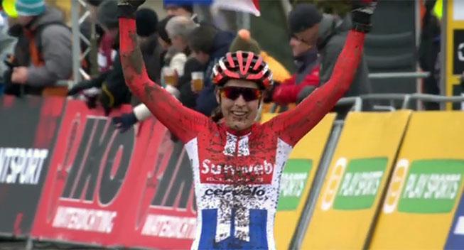 Lucinda Brand vinder i sin sæsondebut ved Jaarmarktcross Niel